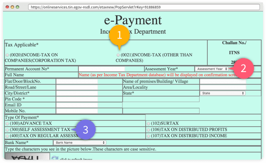 Online Income: Tin Nsdl Online Income Tax Payment
