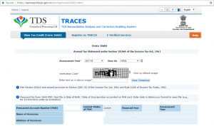 TRACES Verification code