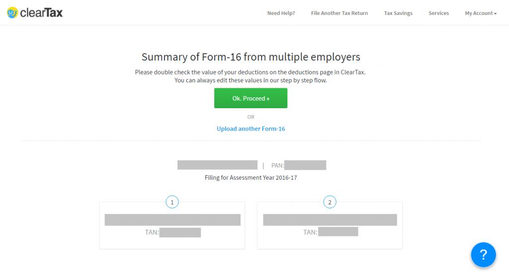 multiple Form 16