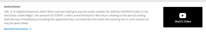 ITC claim on stock and transition forms, TRAN-1, TRAN-2