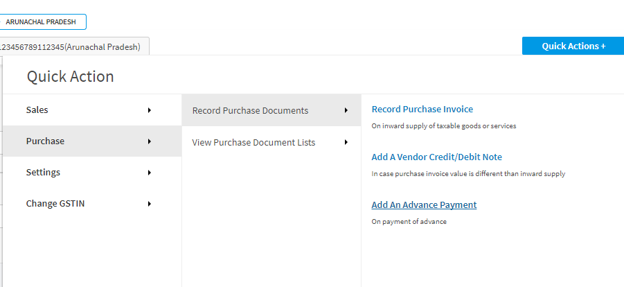 Create Advance payments_Purchase