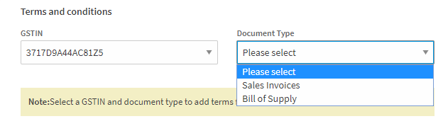 ClearTax GST Software- How to Add Terms and Conditions in Invoices