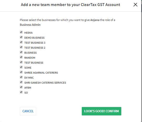 Add a new member business list