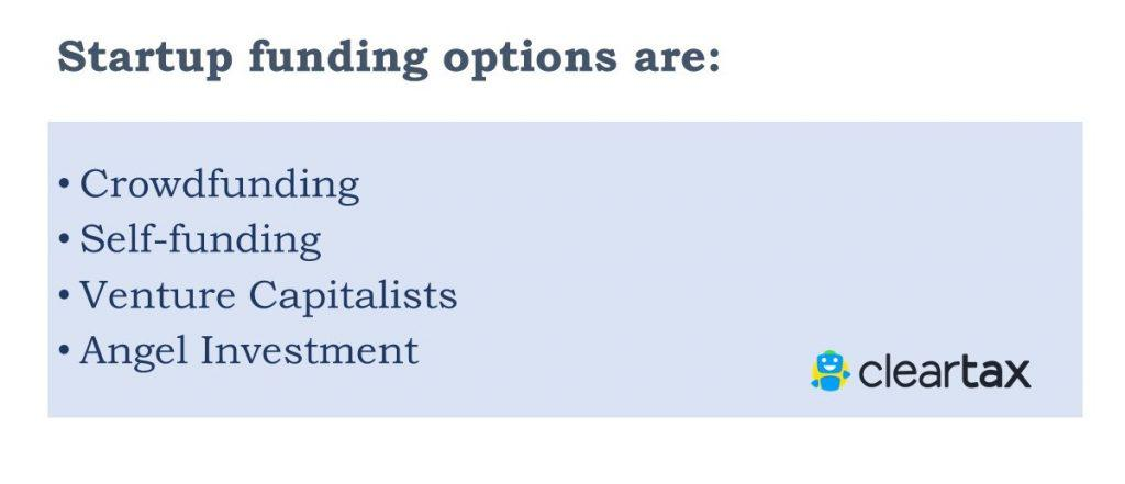 startup funding options