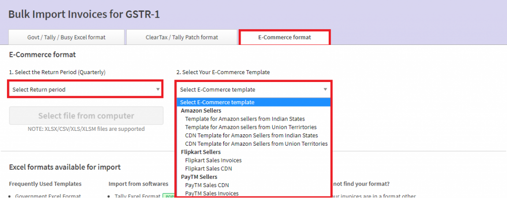 ClearTax GST Software For ECommerce Sellers - Invoice software amazon